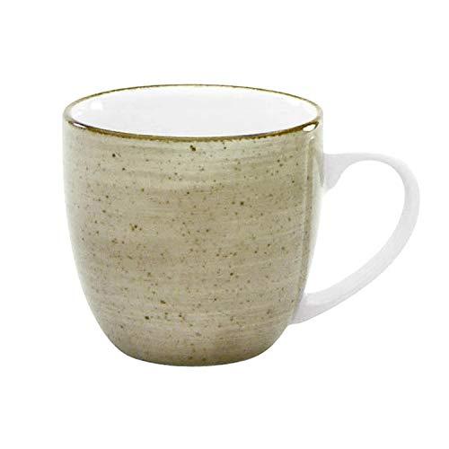 CreaTable Vintage Nature Kaffeebecher 300ml Porzellan, handgemalt, gesprenkelt, schlamm