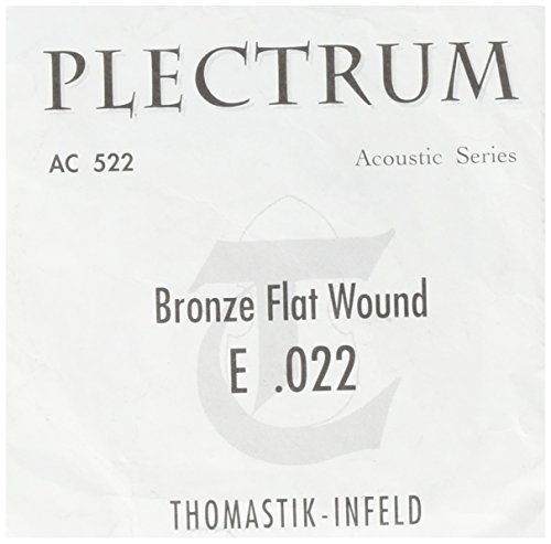 Thomastik cuerda Mi .022 bronce, entorchado sedoso, entorchado plano AC522 para Guitarra Acústica Plectrum Acoustic Series juego AC211