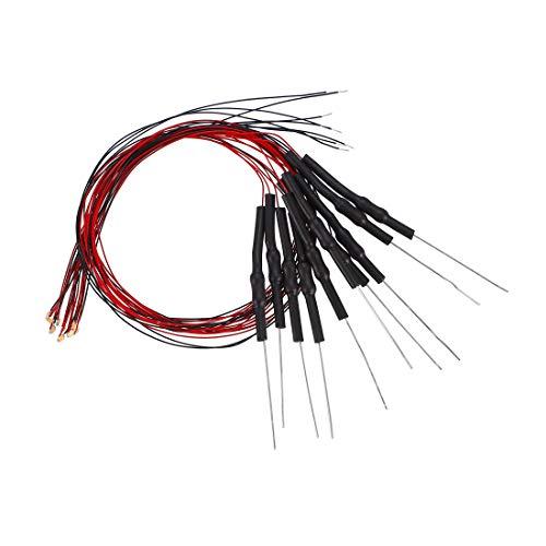 Sourcing Map 0603 SMD LED-Leuchtdioden, vorverdrahtet, DC 6–18 V, Micro verkabelt, gelötet, Mini-LED-Lichter mit Widerstand, 10 Stück