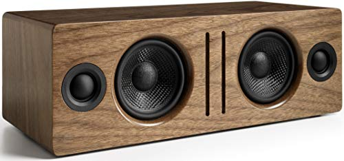 Audioengine B2 Wireless Bluetooth Speaker | Home Music System Desktop Speaker with aptX Bluetooth, 60W Powered Wireless Tabletop Speaker | AUX Audio Input for Phone, Tablet, Computer (Walnut)
