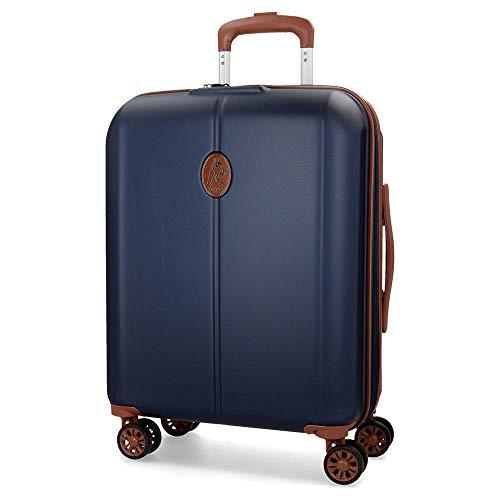 El Potro Ocuri Maleta de cabina Azul 40x55x20 cms Rígida ABS Cierre TSA 37L 3,3Kgs 4 ruedas dobles Extensible Equipaje de Mano