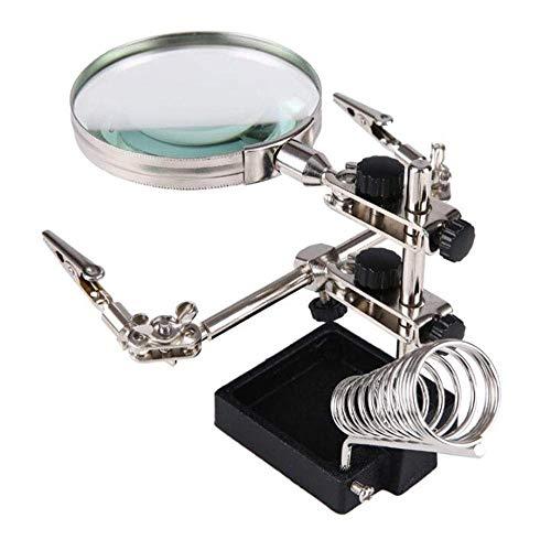 ZJN-JN Lupas 10 tiempos de mantenimiento de soldadura tarjeta de circuitos de lectura Espejo grande Lupa electrónica de escritorio de alta definición no son de iluminación lupa Ayuda en la lectura