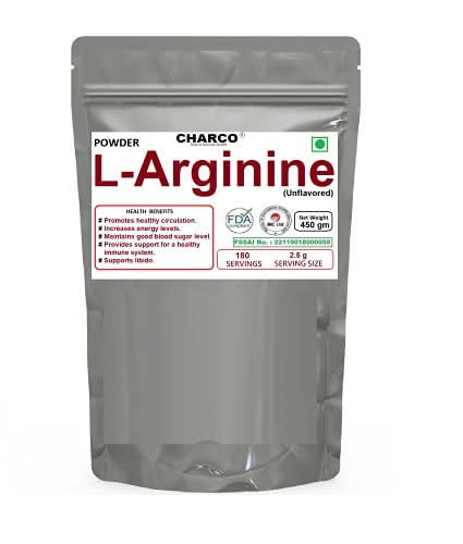 CHARCO – Skin To Internal Health® L-Arginine (Unflavored, 900 Gm) Sports Supplement for Muscle Growth