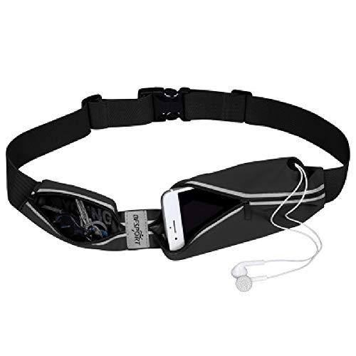 HWYP Läufergürtel für Wandern, Fitness, verstellbare Sportgürteltasche für Männer und Frauen, Laufgürtel, Taillensack – wasserabweisend