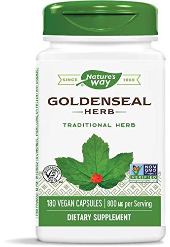 Nature's Way Premium Herbal Goldenseal Herb 400 mg, 180 Vcaps