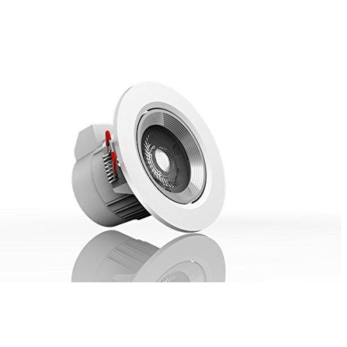 Xanlite - Yantec SEL345 Spot intégré 345 lumens Blanc chaud6 50, mÃtal, 6 W, Chaud