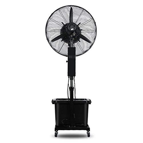 Ventilador de pie de pedestal para fábrica Ventilador de piso de edificio Refrigeración Columpio Rociador Agua Cabeza de elevación de alta potencia Multifunción-3 engranajes 10 horas Volumen 42 litr