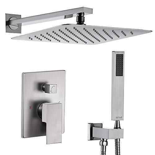 Esnbia Brushed Nickel Shower Faucet Set