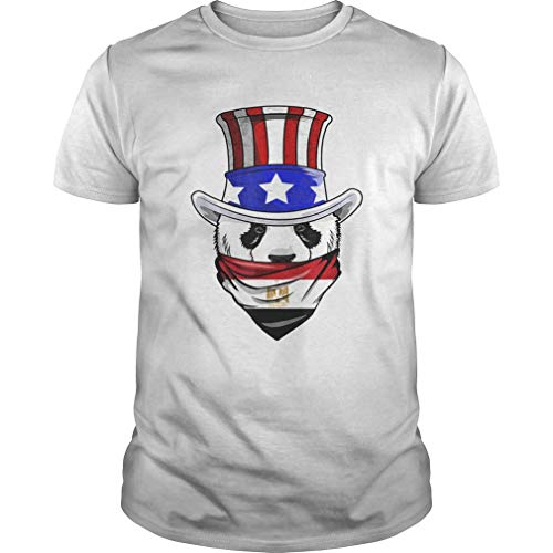 E.gyptian Panda B.Ear In E.gypt B.andana Flag T-Shirt Unisex, for Holiday, for Halloween, for Christmas, for New Year, for Thanksgiving - Front Print T Shirt for Men and Women