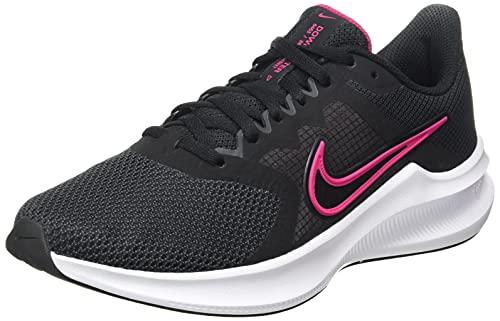 Nike Wmns Downshifter 11, Scarpe da Corsa Donna, Black/Fireberry-Dk Smoke Grey-White, 38.5 EU