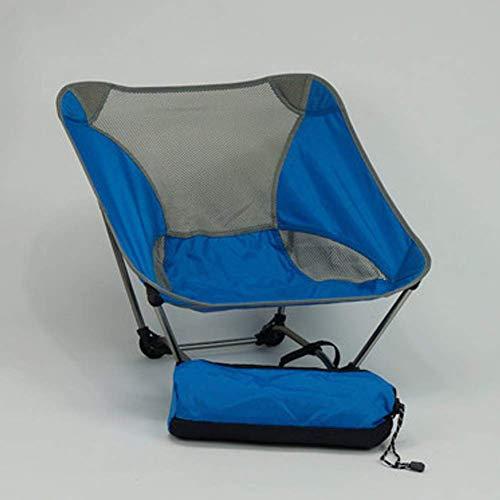 HUALI Adultos cómoda Silla de Camping for niños Picnic en la Playa, Compacto estables Moonchair portátil, Ultraligero Plegable Silla de Playa LIULI (Color : Blue)