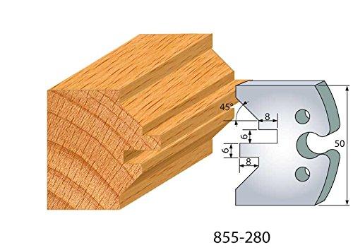 280: Set met 2 ijzeren voor rolluiken, hoogte 50 mm, voor gereedschapshouder, asafstand 24 mm