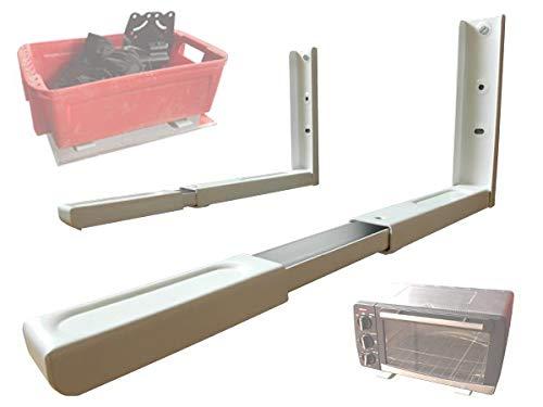 Wandbeugel voor magnetronkeuken Ovengrillbeugel Plank uittrekbaar wit Model: H71W
