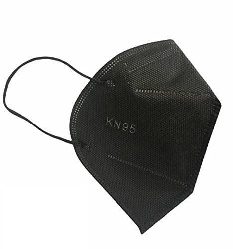 Máscaras KN95 Preta Adultas com ANVISA Fabricada no BRASIL - Embaladas de 10 em 10 - Kit de 10, 20, 30, 40, 50, 100 Unidades - BFE > 98% - FPP2 PFF2 - SOS Mascaras (10)