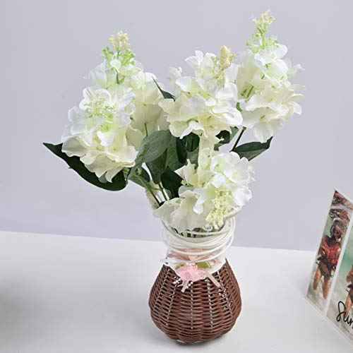 Artificial Hydrangea, Hydrangea Bouquet Officenever Wilt Plastic Hydrangea Flower, 5 Heads for Conference Table Dining Room Table