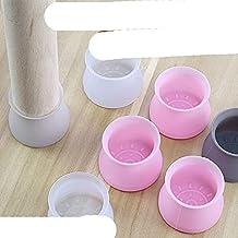 16 stuks siliconen meubelbeenbeschermingshoes tafelvoeten pad vloerbeschermer voor thuis rozeP