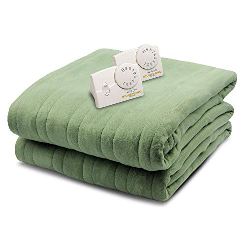 Biddeford 1023-9032108-633 Comfort Knit Fleece Electric Heated Blanket...