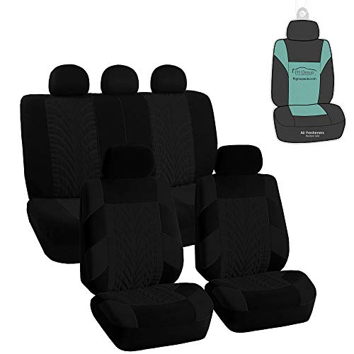 FH Group FB071115 Travel Master Seat Covers (Black) Full Set with Gift - Universal Fit