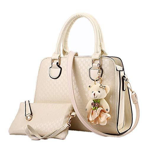 Handtasche Damentasche Reine Europäische Mode Eine Schulter Schräge Tasche Tragen Anhänger Fügen Sie Temperament Lieblichkeit Hinzu Reis Weiß Shopper