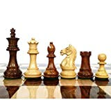 RoyalChessMall- 3.5' Fierce Knight Staunton Chess Pieces Only Set - Golden Rosewood - Weighted Chess Set…