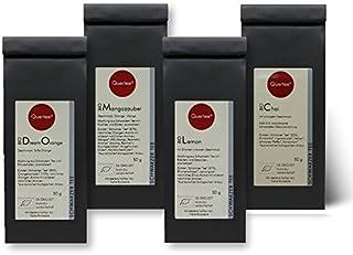 Schwarzer Tee / Schwarztee Geschenkset Probierset Biotee Quertee Nr. 34 - 4 x 50 g - Tee Geschenk