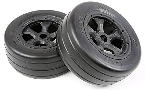Huanruobaihuo 2 unids para Piezas de Repuesto de automóviles ROVAN RC 1/5 LT TRIGHT LEDES Piezas LIRES Slick LEDRES Set TAMBIÉN Ajuste para Baja 4WD / SLT 970492 (Color : Black)