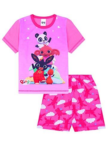 Pigiama da bambina corto, colore rosa, motivo il coniglietto Bing e i suoi amici rosa 18-24 Mesi