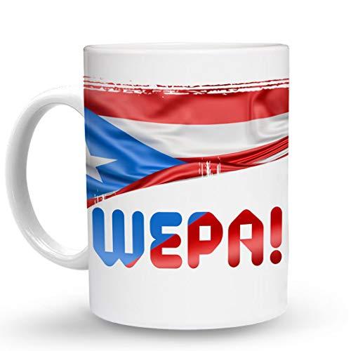 Makoroni - WEPA! Puerto Rican - Puerto Rico Flag - 11 Oz. Unique COFFEE MUG, Coffee Cup