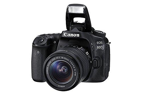 Canon EOS 80D Digital SLR Kit with EF-S 18-55mm f/3.5-5.6 is STM Lens (US Model, Black)