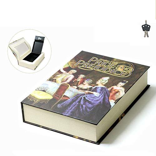 ANN Draagbare Safe Box Boek Safe Box Met Sleutel Woordenboek Afleiding Geld Box Nep Boek Safe Opbergdoos Sieraden Stash,Bevat 2 Sleutels