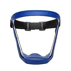 Visiera di sicurezza con montatura per occhiali Protezione integrale del viso, visiere protettive ultra trasparenti antipolvere, protezione antispruzzo per sanitari Occhiali in PVC Protezione antispru