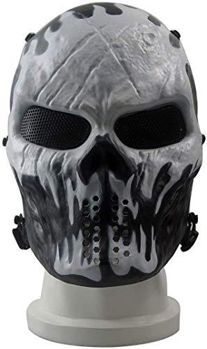 Maschera Protettiva CS Halloween Airsoft Paintball Maschera Scheletrica Del Cranio Pieno