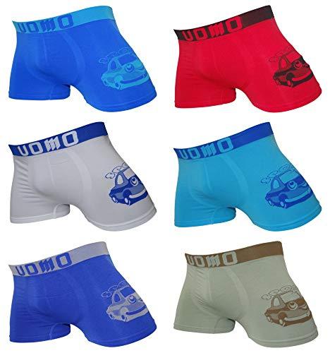 Dealzone 6er Pack Jungen Boxershorts Microfaser Kids Retroshorts Kinder Unterhosen 98-104