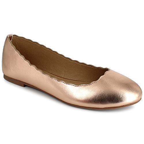 ESPRIT Damen Odette Ballett, flach, Rose Gold, 38 EU