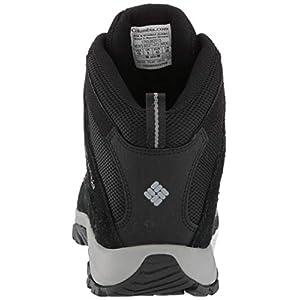 Columbia Men's Crestwood Mid Waterproof Hiking Boot, Black Grey, 12 Regular US