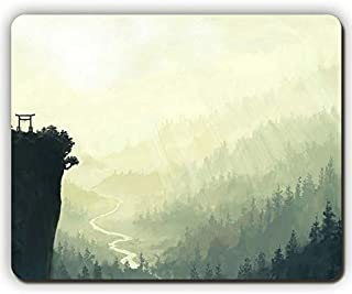 High Quality Mouse pad,Falls Mountains China River Sun Light Beams Arch Fog,Game Office Mousepad