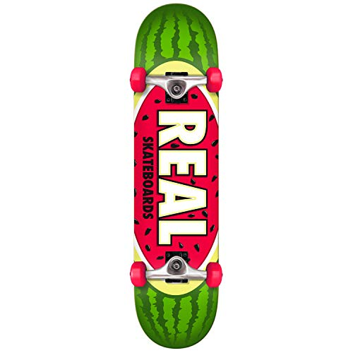 Real Skateboard, komplettes Team Watermelon Green, 19,7 cm