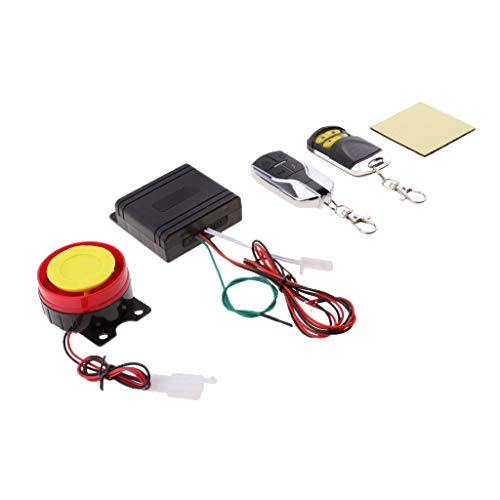 12Vdc Scooter Security Alarm System Remote Control Anti-Theft For Motorcycles Smart Alarm Automatically Recognizes Vibration