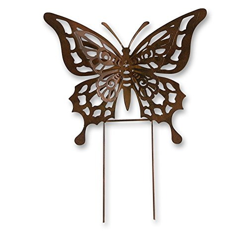 Klp Gartenstecker Metall Schmetterling Beet Stecker Rosenkugel Garten Deko Figur