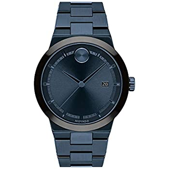 Men s Movado Bold Fusion Blue-Ion Plated Stainless Steel Bracelet Watch 3600661