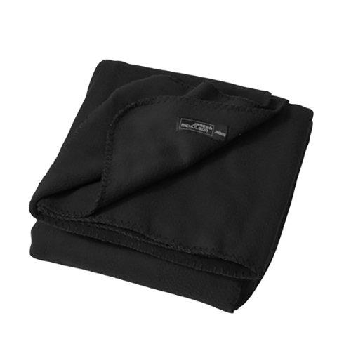 2Store24 Fleece Blanket in Black Größe: one Size