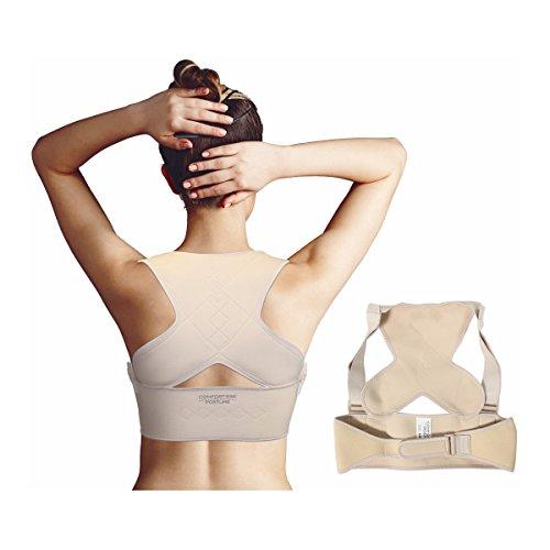 Comfortisse Posture – Brassière dorsale de maintien qui corrige instantanément votre position et soulage les tensions. (L/XL : 96-130 cm)