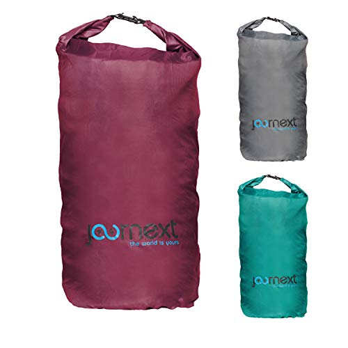 Journext 2 in 1 Rucksack Schutzhülle & Regenschutz, Schutzsack für Backpack, Schutz für Flugzeug, Bahn & Bus, Flight Bag (Bordeaux red, M)