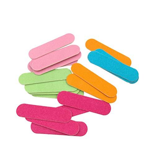 Lurrose 100 unids Mini limas de uñas de madera desechables Lima de Uñas Professional Cuidado de Uñas Cristal de Lujo Premium para una Manicura y Pedicura Duradera (color aleatorio)