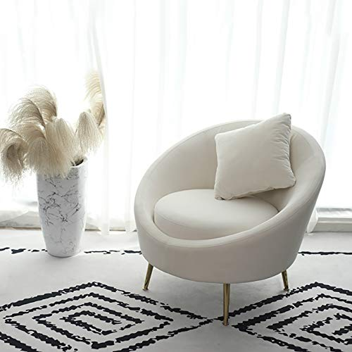 OPLA Lounge Sofa Stuhl, Haushalt Single Velvet Sessel, High Rebound Seat Lounge Chair Weiß 1111S