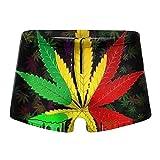 XCNGG Leaf Weed Calzoncillos Tipo bóxer de Secado rápido para Hombres Bañadores Shorts Trunks Traje de baño-XX-Large