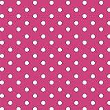 babrause® Baumwollstoff Punkte Pink Webware Meterware