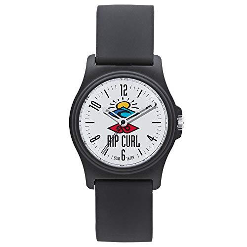 RIP CURL Revelstoke Uhr - Weiß - Leichtes wasserdichtes Spritzschutz - Gedrucktes Grafikzifferblatt