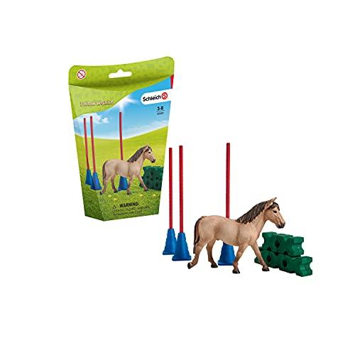 Schleich 42483 Farm World Spielset - Pony Slalom, Spielzeug ab 3 Jahren