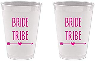 Bachelorette Frost Flex Plastic Cups - Bride Tribe (10 cups)